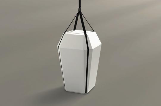 diamant urne hvid